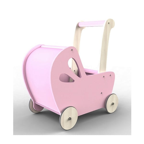 Moover Line Light Pink Wooden Dolls Pram