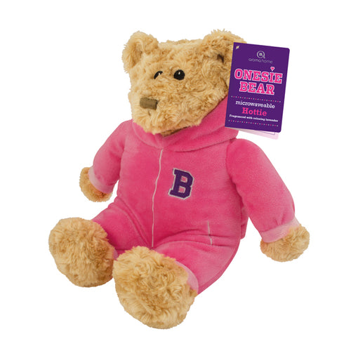 Aroma Home Onesie Bear Heat Pack ~ Pink