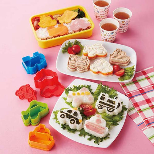 Bento Vehicles Cutter & Rice Molds