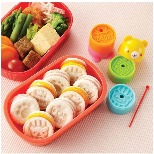Bento Teddy Bear Tower Sandwich Cutter & Stamp Set