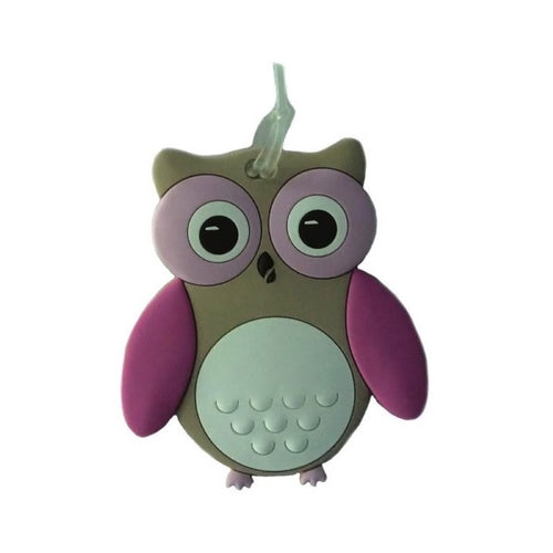 Bobble Art Bag Tag Owl