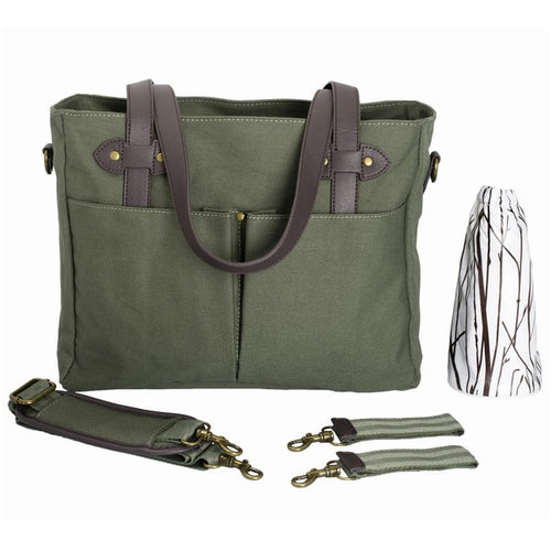 SoYoung Emerson Nappy Tote Bag Khaki