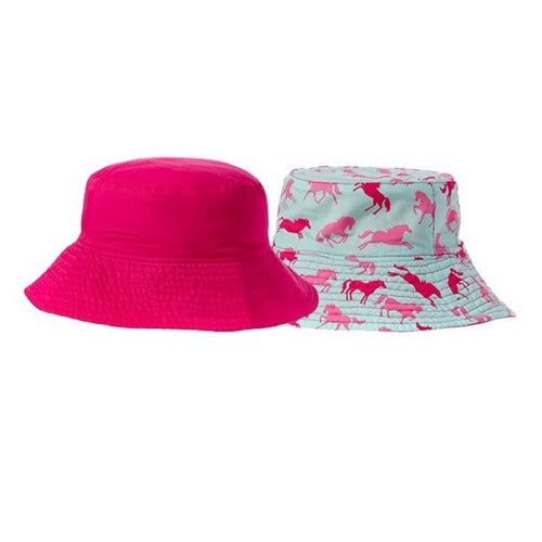 Hatley Girls Reversible Sun Hat Ponies & Polka Dots