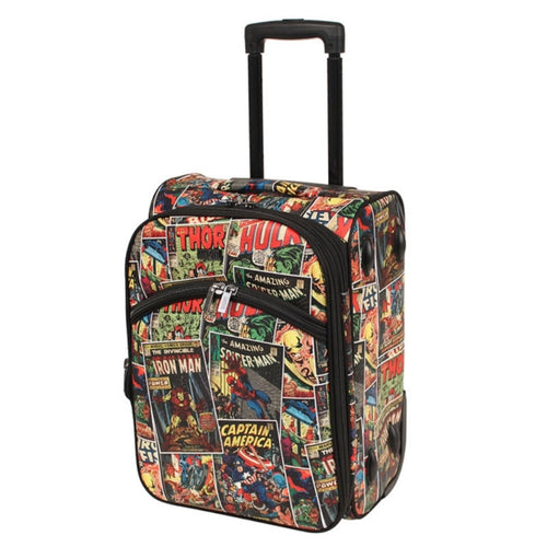 Marvel Avengers Comic Print Small Soft Trolley Suitcase 18?