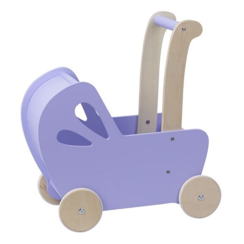 Moover Line Light Purple Wooden Dolls Pram