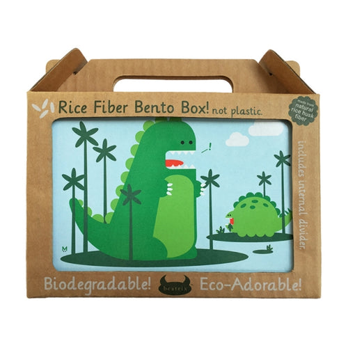 Beatrix New York Rice Fibre Bento Box Percival Dinosaur