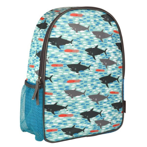 Petit Collage Eco Friendly Sharks Toddler Backpack