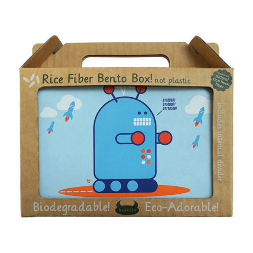 Beatrix New York Rice Fibre Bento Box Pixel Robot