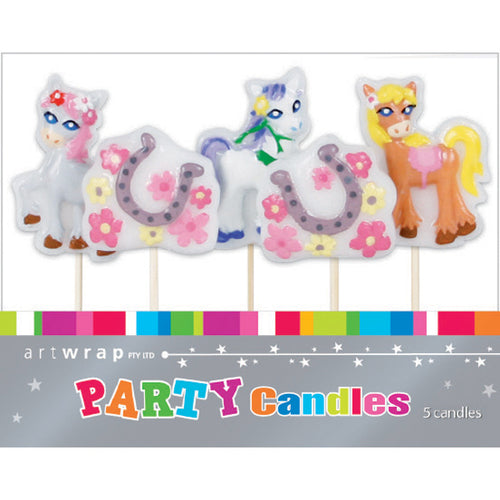 Art Wrap Pretty Ponies Party Candles
