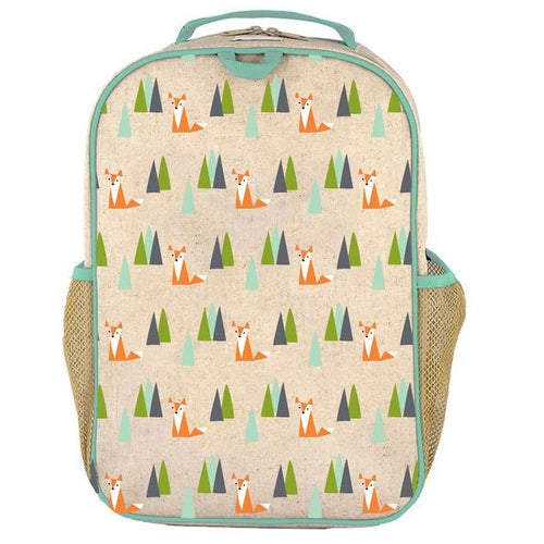 SoYoung Eco Linen Grade School Backpack Olive Fox