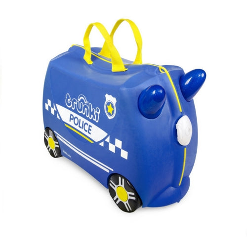 Trunki Kids Ride On Suitcase Percy Police Car
