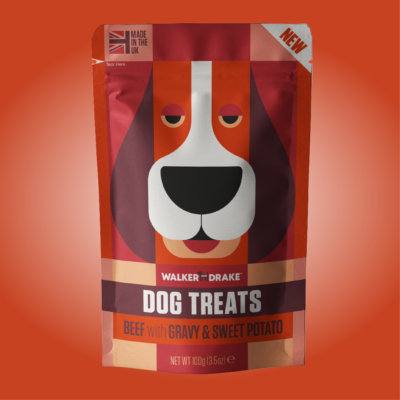 Walker and Drake Beef with Gravy & Sweet Potato Dog Treats, 100g