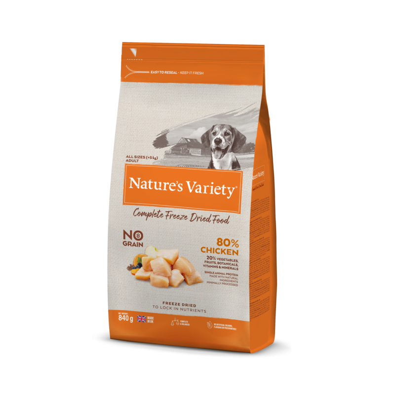 Natures Variety Complete Freeze Dried Food- Chicken 840g