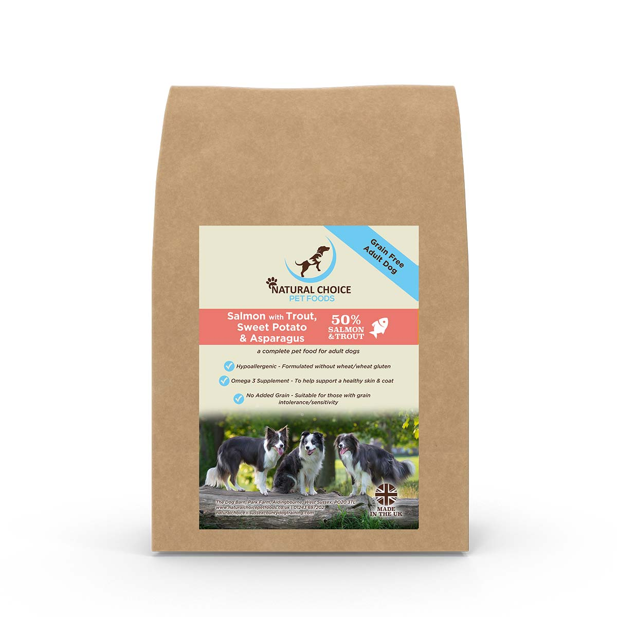 Natural Choice - Salmon, Trout, Sweet Potato and Asparagus - Grain Free Dry Dog Food