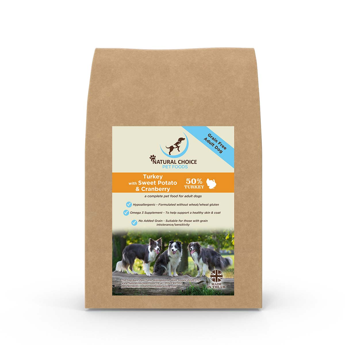 Natural Choice - Turkey, Sweet Potato & Cranberry - Grain Free Dry Dog Food