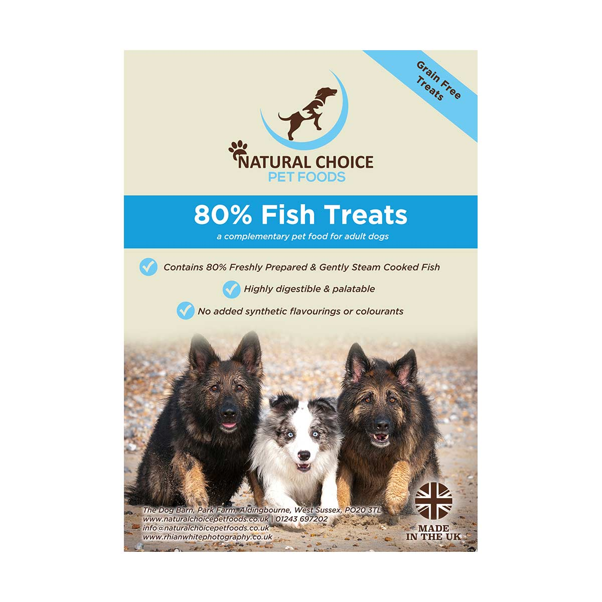 Natural Choice Grain Free 80% Fish Dog Treats