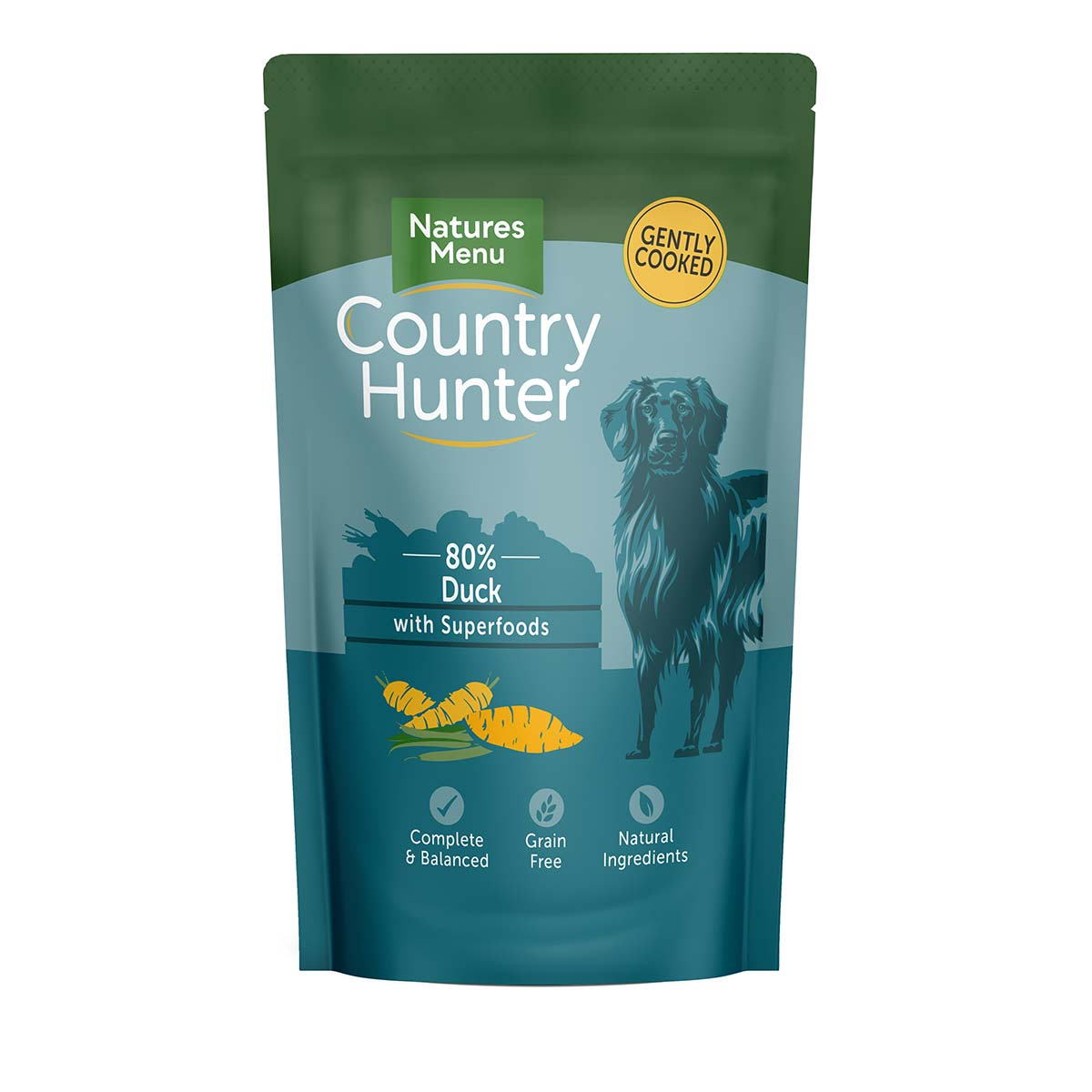 Natures Menu Country Hunter Duck Pouches Wet Dog Food