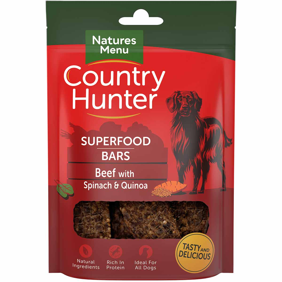 Natures Menu Country Hunter Superfood Bars Beef Dog Treat