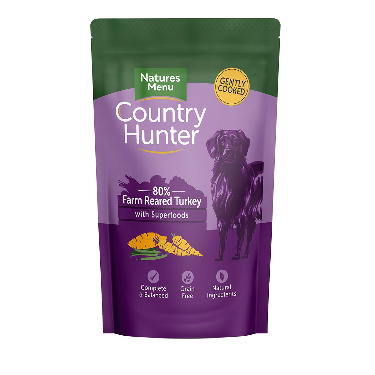 Natures Menu Country Hunter Turkey Pouches Wet Dog Food