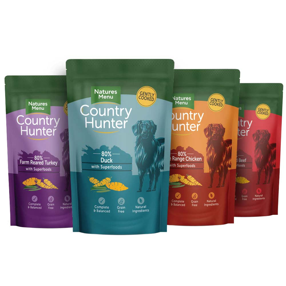 Natures Menu Country Hunter Wet Dog Food Pouches Multipack