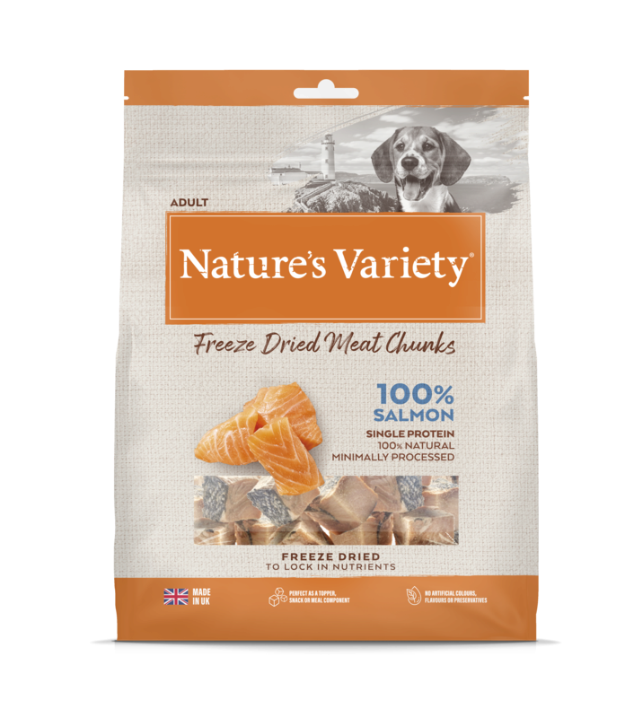 Natures Variety Freeze Dried Salmon Chunks 200g