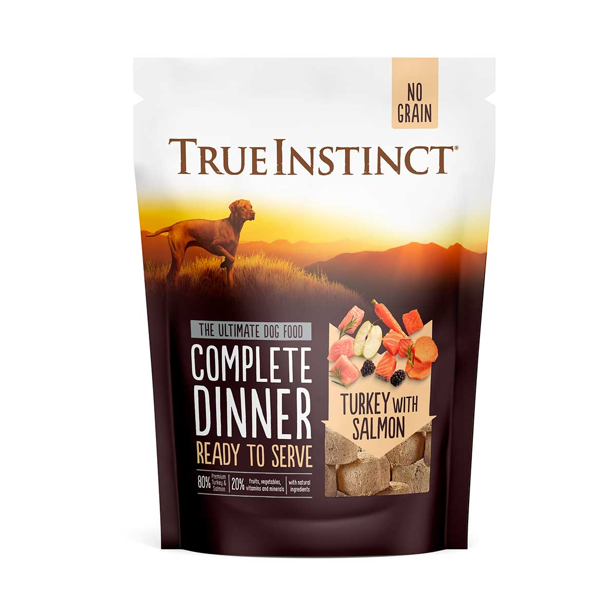 True Instinct Freeze-Dried Complete Turkey and Salmon Dinner Dog Food 120g