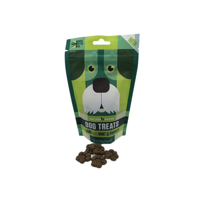 Walker and Drake Lamb with Mint & Parsley Dog Treats - 100g