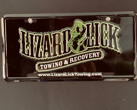 License Plate Lizard Lick Towing Logo