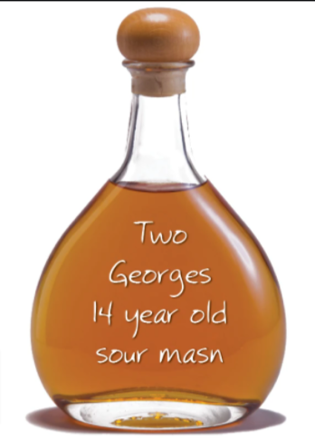 Two Georges 14 Year Old Bourbon Whiskey