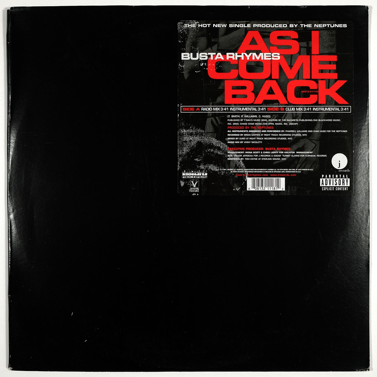 Busta Rhymes, As I Come Back (maxi)
