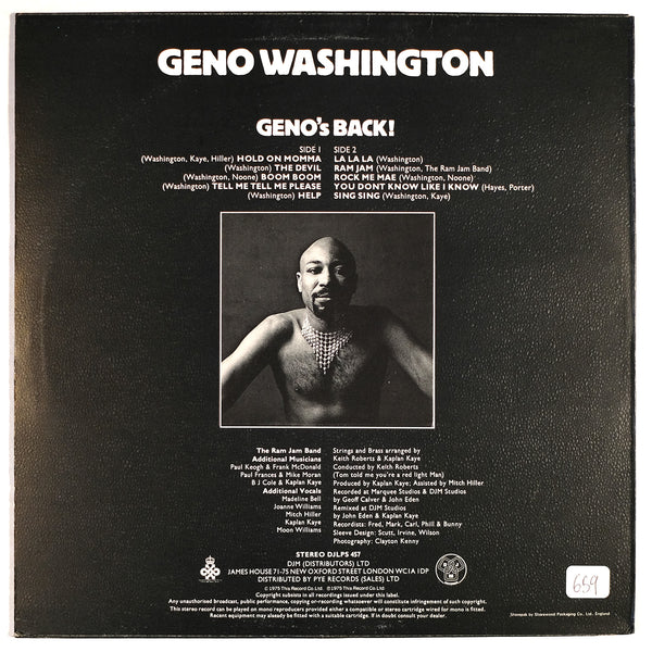 Geno Washington, Geno's Black