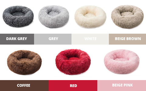 Comfort Dog Bed Luxury Fur Color Chart - Malamute Pet Shop