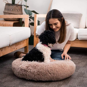 [Last Day Promotion, 50% Off] MALAMUTE ComfortBed™ | Therapeutic Dog Calming BedDog Bed Beige Brown / M - 60cm/23.5inch - Malamute Pet Shop