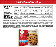 Load image into Gallery viewer, NuGo Protein Cookie Dark Chocolate Chip Nutrition Facts