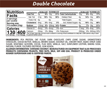 Load image into Gallery viewer, NuGo Protein Cookie Double Chocolate Nutrition Facts