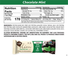 Load image into Gallery viewer, NuGo Slim Chocolate Mint Nutrition Facts