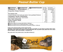 Load image into Gallery viewer, NuGo Dark Peanut Butter Cup Nutrition Facts