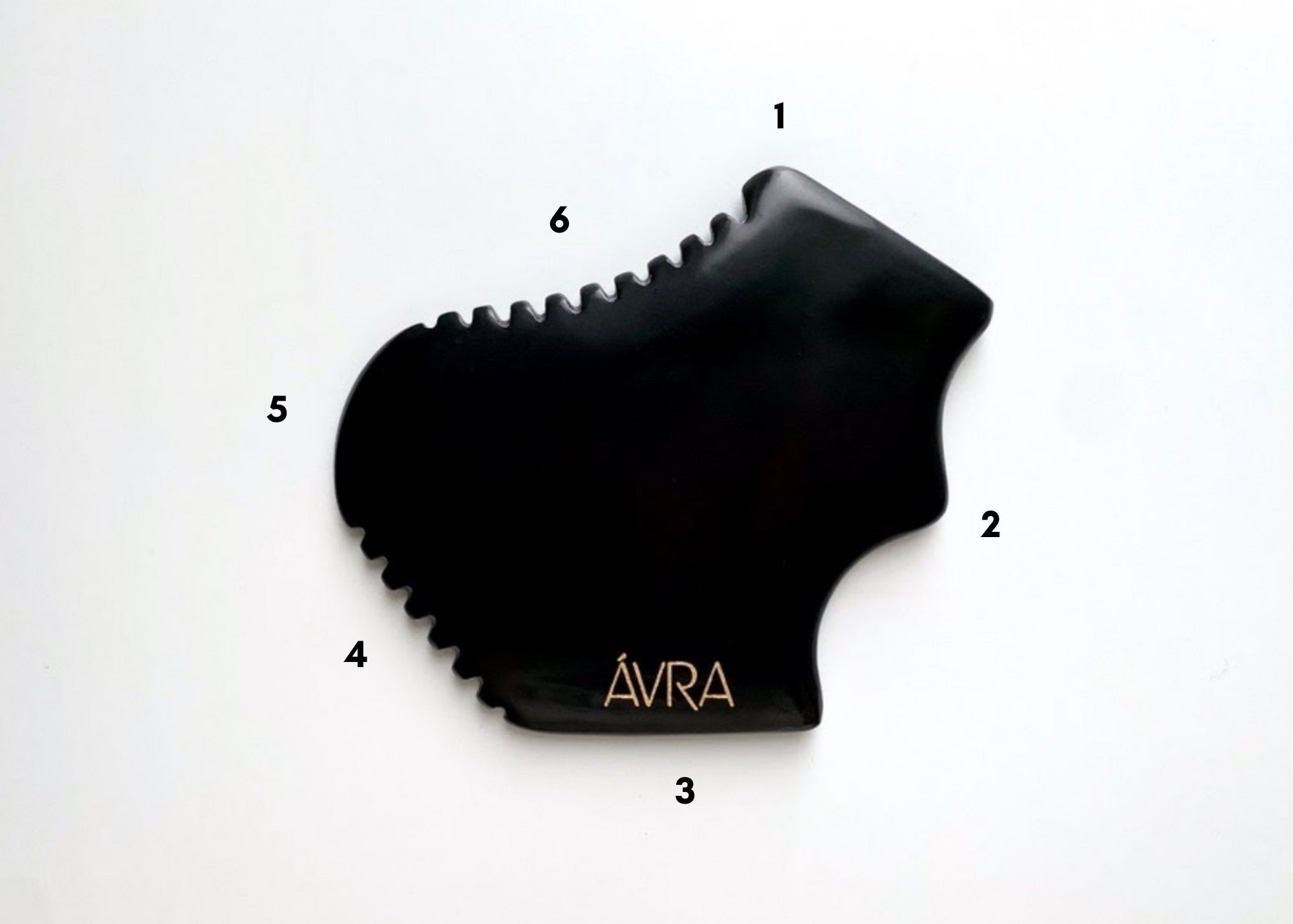 Bian Gua Sha Labelled with Numbers on the Sides