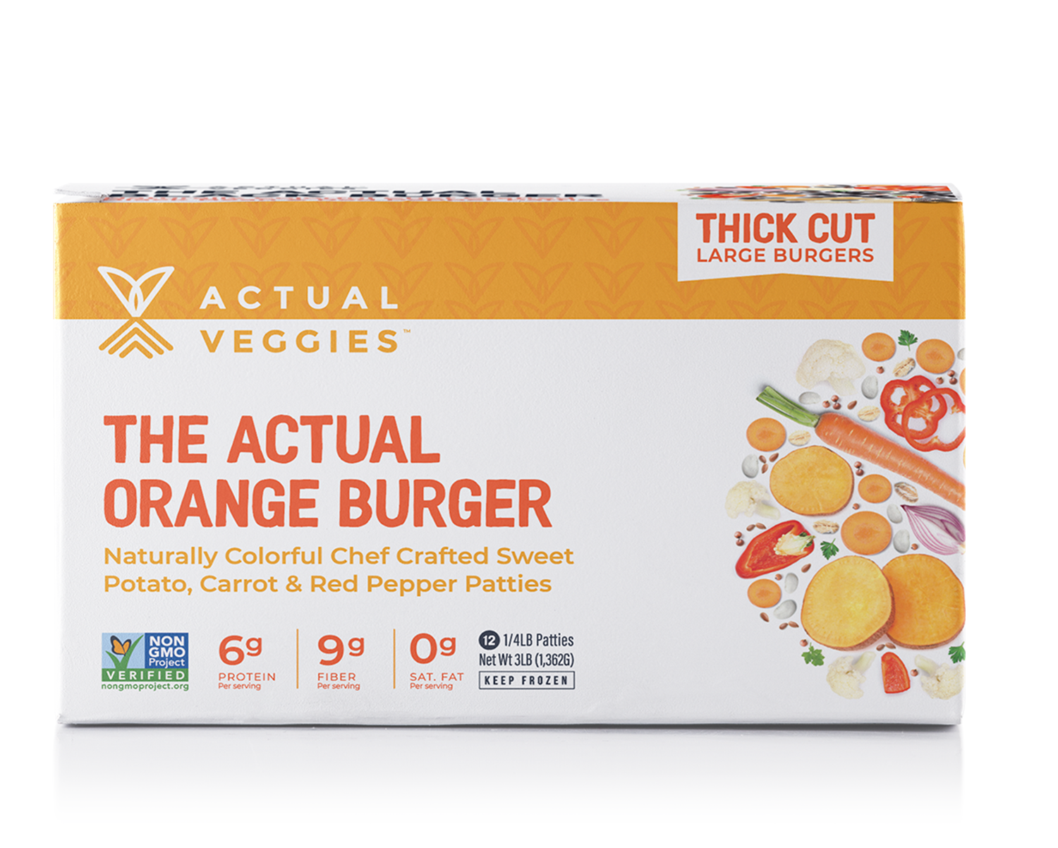 12 Pack - The Actual Orange Burger