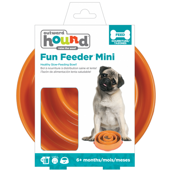 Outward Hound Mini Fun Feeder Orange