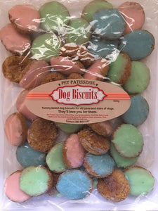 Pet Patisserie dog biscuits - iced buttons - 500g