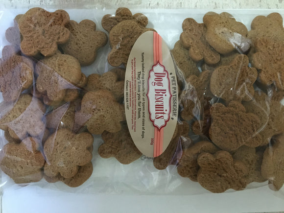 Pet Patisserie dog biscuits - Paw shape - 500g