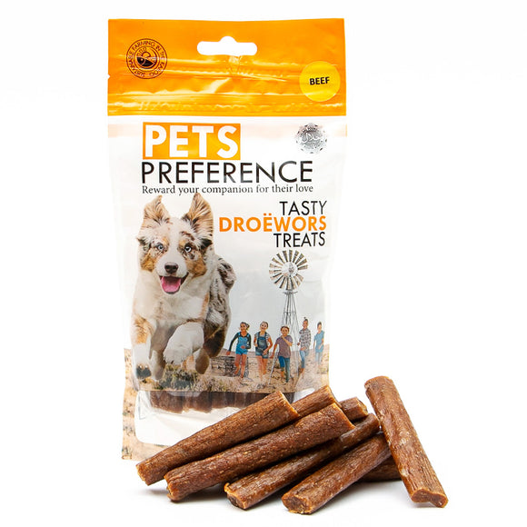 Pets Preference tasty droewors treats 100g