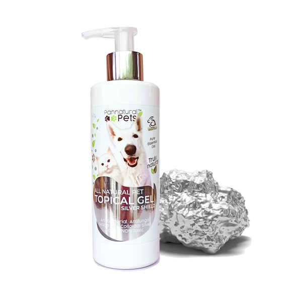 Pannatural Pets Silver Shield Topical Gel ANTIBACTERIAL, ANTIFUNGAL, ANTIVIRAL 250ml