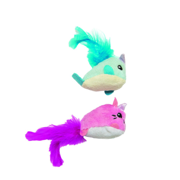 Petstages Unicorn Cat And Narwhal Cat Toy