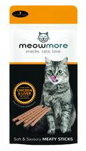 Meowmore chicken and liver cat treat sticks 15g (3pcs)
