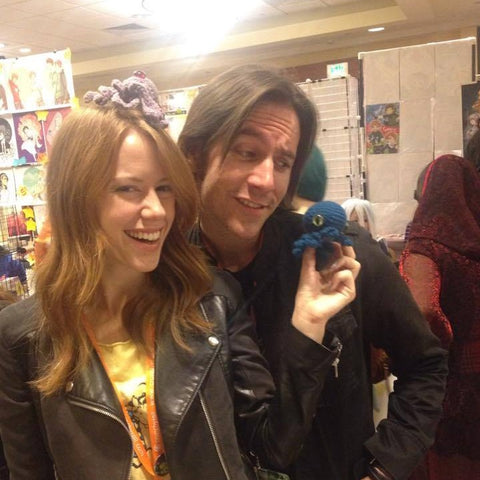 Two wonderful nerds Matt Mercer and Marisha Ray from Critical Roll- checking out some of my octopi
