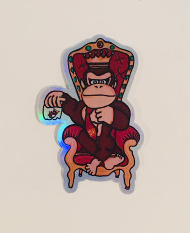"""DK"" design hologram Sticker - Kings Throw'N"