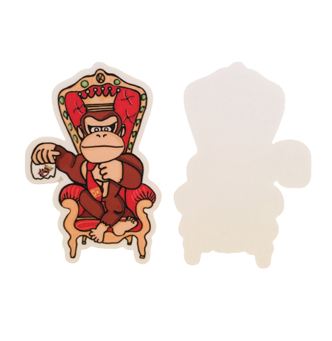 """DK"" design Sticker - Kings Throw'N"