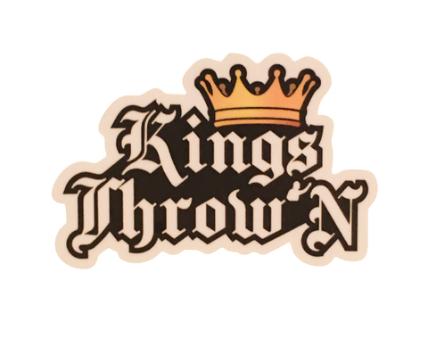 Kings Throw'N Static Window Cling - Kings Throw'N